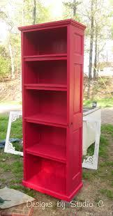 Old Door Decorating Build A Bookcase Using An Old Door Designs By Studio C