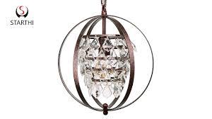 how to assemble starthi globe crystal pendant chandelier light
