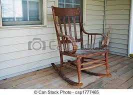 wooden rocking chairs for front porch. Contemporary Chairs Old Rocking Chair  Csp1777465 With Wooden Chairs For Front Porch