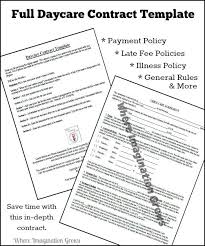 Full & Complete Daycare Handbook/contract Template - Where ...