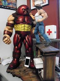 halimaw sculptures juggernaut vs wolverine fight at bar diorama a million thanks to halimaw