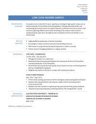 Lead Line Cook Sample Resume Sidemcicek Com