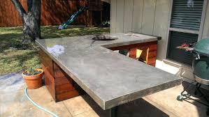 outdoor kitchen concrete countertop rustic patio cast countertops