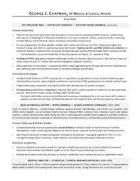 Sample VP Medical Affairs Resume
