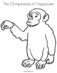 Small Picture Chimpanzee Coloring Pages Coloring Coloring Pages