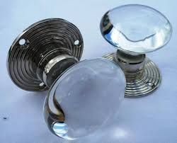 glass door knobs for sale. Unique For ClearNickel Pair Of Bohemian Crystal Glass Door Knobs RIBBED Traditional And For Sale A