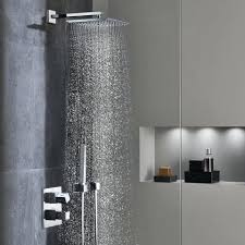 Debonair Grohe Shower Heads Ceiling Shower Head Black