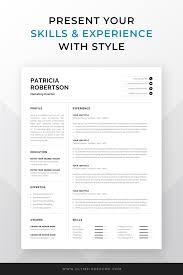How To Make A One Page Resume Professional 1 Page Resume Template Modern One Page Cv