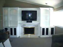 white entertainment centers with fireplace off center high gloss oak classic flame stands compressed antique around