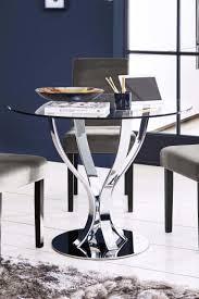 next tulip round dining table chrome