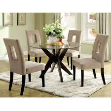 glass for dining room table top royce 30 inch round glass top dining table home inspirations