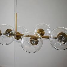 staggered glass chandelier 12 light west elm modern glass chandelier