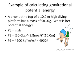 example of calculating gravitational potential energy