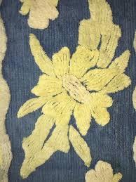 vintage chenille bath rug blue yellow 35 x 20 1882967091