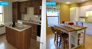 El Antes Y Después De Una Cocina Con Los Muebles Pintados
