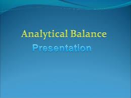 Simple Balances Analytical Balance Presentation