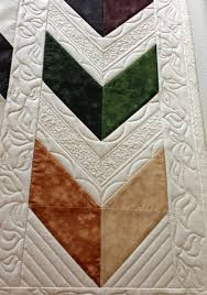 17 Best images about Quilting videos on Pinterest | Feathers ... & Pretty quilting on a chevron quilt with video! Adamdwight.com