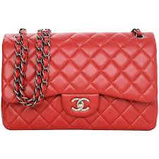 Chanel Red Quilted Lambskin Leather Double Flap Jumbo Bag with RHW ... & Chanel Red Quilted Lambskin Leather Double Flap Jumbo Bag with RHW 1 Adamdwight.com