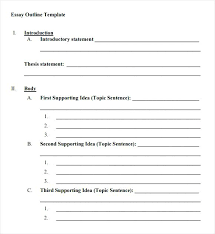 Extended Essay Outline Example Images Of Outline Template Word Net