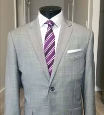 This one would work well for the office with the striped tie and  square-folded pocket square. By the way, this is a sharkskin suit.