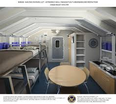 Bunker Designs The Military Shelter Comes With Cabinets A Pantry A Sofa Bunk