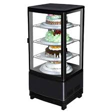 marchia mdc78b countertop refrigerated glass display case black