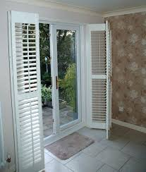 shutters for sliding glass doors patio door shutters these plantation shutters are of the bi fold