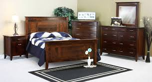 Bedroom Contemporary Amish Solid Wood Beds Mission Style Bedroom
