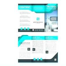 4 Panel Brochure Template Accordion Fold Brochure Template