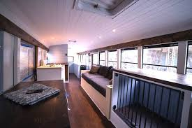 tiny house school bus. Techy Couple Convert School Bus Into Modern Tiny House And Escape The 9-5 W