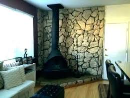 lava rock fireplace rocks makeover faux stone wall how to remov rock fireplace