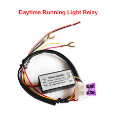 Universal Daytime Running Light Module Car Led Drl Relay Daytime Running Light Relay Harness Auto