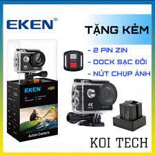 camera hành trình xe máy ô tô phượt 4k Eken H9r - camera mini chống nước  chống sốc chống rung