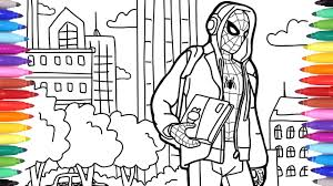 Pypus is now on the social networks, follow him and get latest free coloring pages and much more. Spiderman In The City Coloring Pages Marvel Coloring Book How To Draw Spiderman Coloring For Kids Youtube