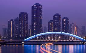 japan-tokyo-skyscrapers-bridge-night-hd ...