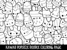 Popsicle Doodle Coloring Page Printable Cutekawaii Coloring Page