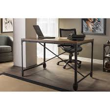 com whole interiors baxton studio greyson vintage home office wood desk antique bronze kitchen dining