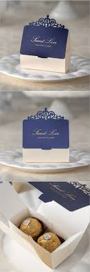 Romantic Lover Wedding Gift and Favors Bag Elegant Luxury Decoration Laser  Party Event Supplies Blue Paper
