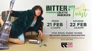 Colette Andersen: Bitter with a Twist – Sit Down Comedy Fringe