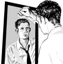 man looking in mirror sadly. man looking in mirror sadly vwlmasm clipart a