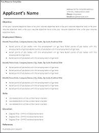 Resume Templates Pdf Resume Templates Blank Resume Format Download