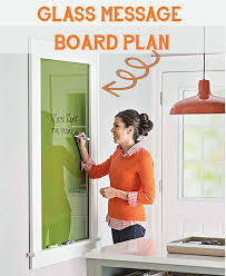 glass wall mounted dry erase message