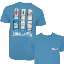Natural Light History Lesson Rowdy Gentleman Tee Shirt Bluee