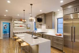downlights and chandeliers kitchen lighting ideas