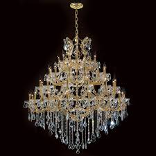worldwide lighting corp maria theresa 49 light gold finish with clear crystals chandelier