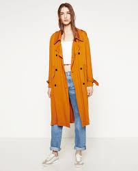 trench coat with horn on collection woman zara united states