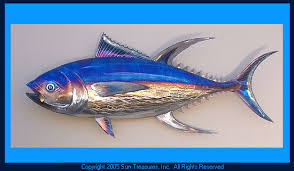 >gary caldwell yellowfin tuna metal wall art sculpture