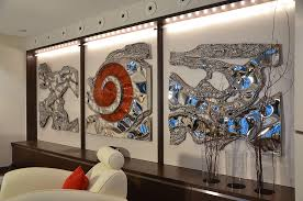 gahr polished stainless steel artwork for an exclusive living room