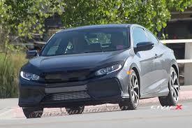 2017 Honda Civic Si Coupe First Sighting! | 2016+ Honda Civic ...