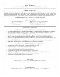 Payroll Accountant Resume Examples